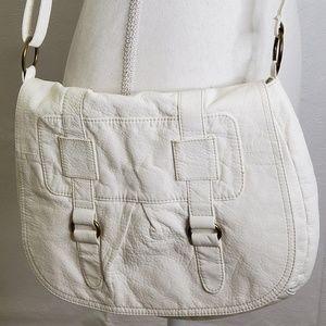 Lulu White Crossbody Vegan Leather Bag